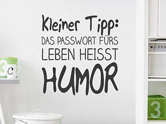 Wandtattoo Passwort Humor