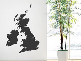 Wandtattoo Großbritannien und Irland