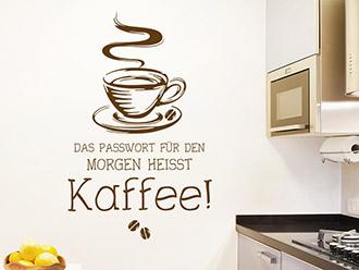 Wandtattoo Passwort Kaffee