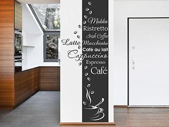 Wandtattoo Banner Café