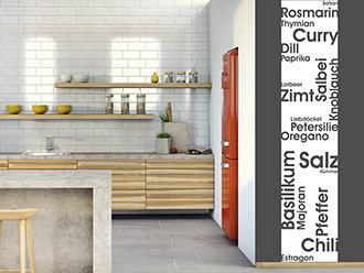 Wandtattoo Banner Küchengewürze