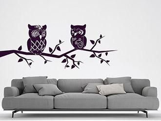 eulen wandtattoos kreative eule an der wand wandtattoo de. Black Bedroom Furniture Sets. Home Design Ideas