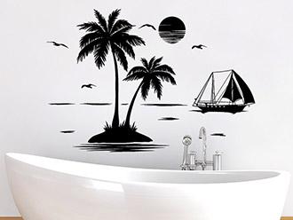 Wandtattoo Palmen Insel