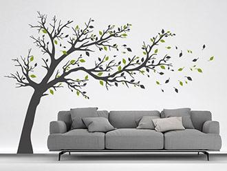 wandtattoo baum im wind von. Black Bedroom Furniture Sets. Home Design Ideas