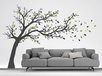 wandtattoo pflanzen | bäume, pusteblumen und gräser | wandtattoo.de - Deko Baum Wand