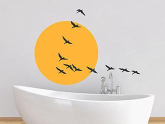 Wandtattoo Zugvögel Formation