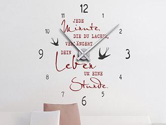 Wandtattoo Uhr Jede Minute, die du lachst