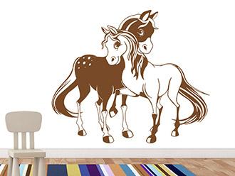 Wandtattoo Zwei Ponys