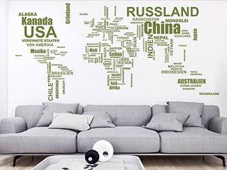 Wandtattoos Fürs Wohnzimmer Kreative Motive WANDTATTOODE - Wandtattoos für wohnzimmer