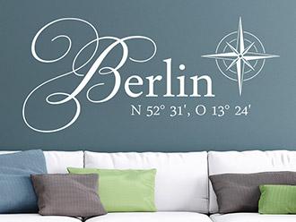 Wandtattoo Berlin Koordinaten