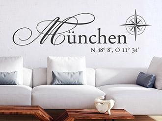 Wandtattoo München Koordinaten