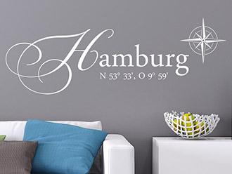 Wandtattoo Hamburg Koordinaten