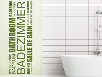 Wandtattoo Worte fürs Bad   Akzente im Badezimmer ...