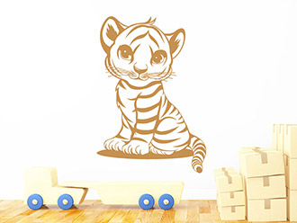 Wandtattoo Kleiner Tiger