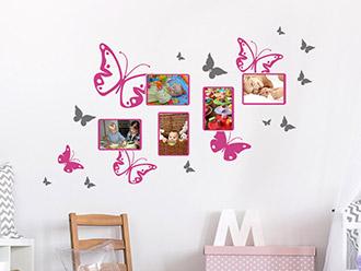 Kinderzimmer wandgestaltung schmetterling  Mädchenzimmer Wandtattoos | Mädchen Motive mit Name | WANDTATTOO.DE