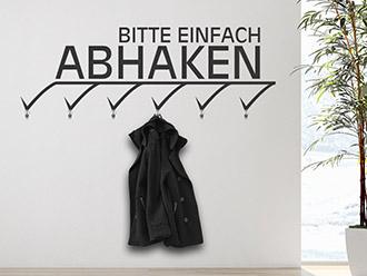 Garderobe Abhaken