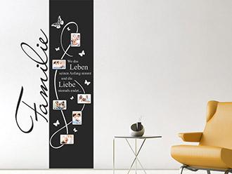 Wandtattoo Fotorahmen Banner Familie
