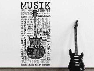 Wandtattoo Musik macht mein Leben perfekt