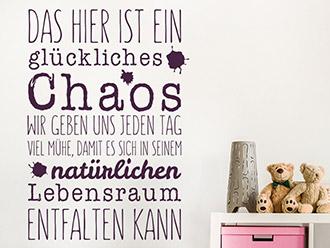 Wandtattoo Ein glückliches Chaos