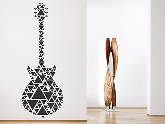 Wandtattoo Gitarre aus Dreiecken