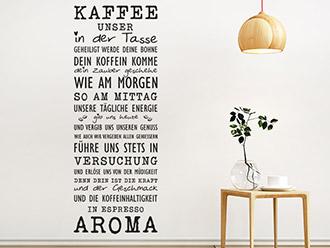 Wandtattoo Kaffee unser