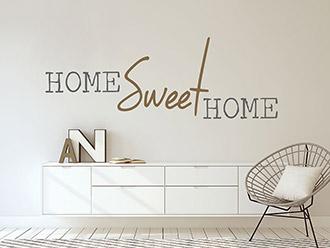 Wandtattoo Modernes home sweet home