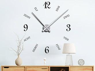 Wandtattoo Uhr Geschriebene Zeit