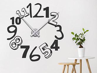 Wandtattoo Uhr Kreative Zahlen