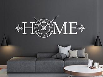 Wandtattoo Uhr Home römische Ziffern