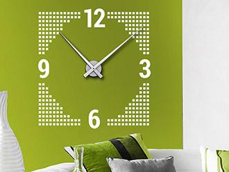 Wandtattoo Uhr Cube Design