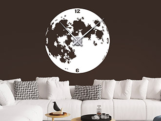 Wandtattoo Uhr Mond