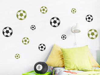 Wandtattoo Fußball Mix