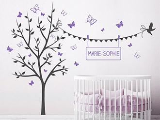 Babyzimmer Wandtattoos Susse Motive Mit Babynamen Wandtattoo De