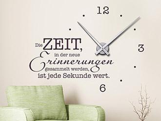 Wandtattoo Uhr Zeit Für Neue Erinnerungen