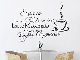Wandtattoo Kaffeegenuss