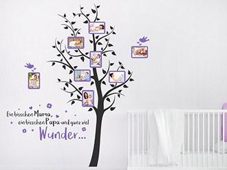 Wandtattoo Fotorahmen Baum Ein bisschen Mama...