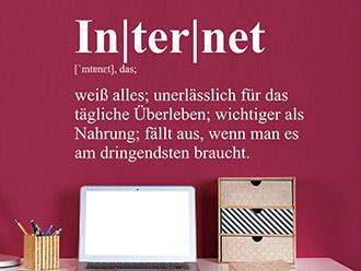 Wandtattoo Internet Definition