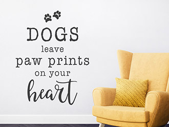 Wandtattoo Dogs leave paw prints...