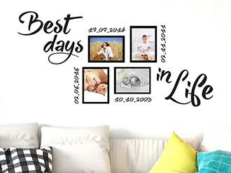 wandtattoo fotorahmen f r ihre sch nsten fotos wandtattoo de. Black Bedroom Furniture Sets. Home Design Ideas