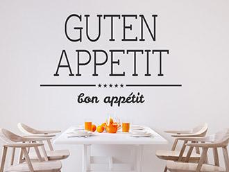 Wandtattoo Guten Appetit Bon Appétit