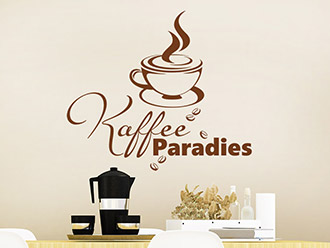 Wandtattoo Kaffee Paradies