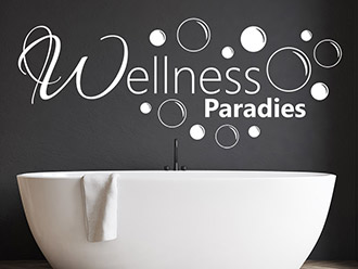 Wandtattoo Wellness Paradies