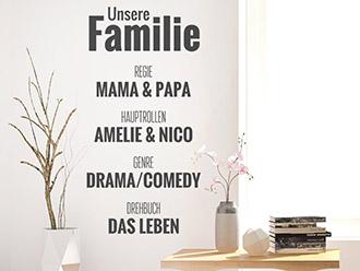 Wandtattoo Unsere Familienserie