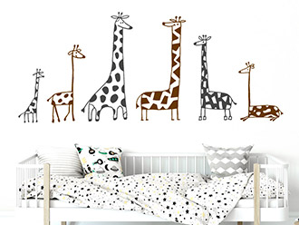 Wandtattoo Lustige Giraffen