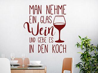 Wandtattoo Zitate über Essen und Trinken | WANDTATTOO.DE