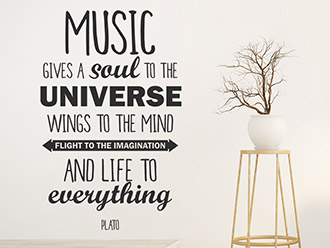 Wandtattoo Music gives a soul...