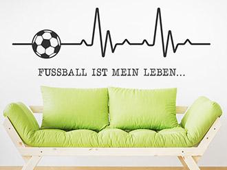 Wandtattoo Fußball ist mein Leben