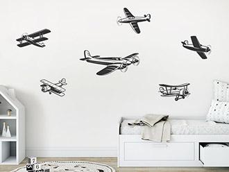 Wandtattoo Flugzeuge