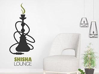 Wandtattoo Shisha Lounge