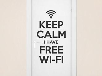 Wandtattoo Free Wifi
